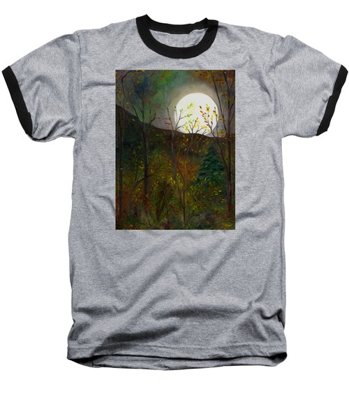 Frost Moon Baseball T-Shirt by FT McKinstry