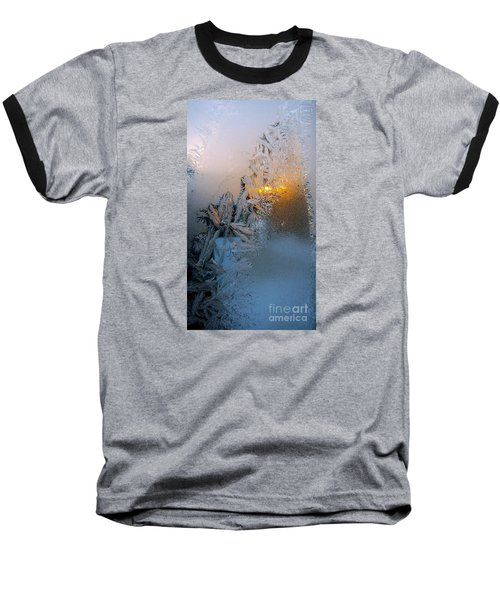 Frost Warning Baseball T-Shirt by Pamela Clements
