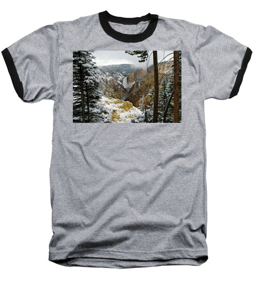 Baseball T-Shirt featuring the photograph Frosted Canyon by Steve Stuller