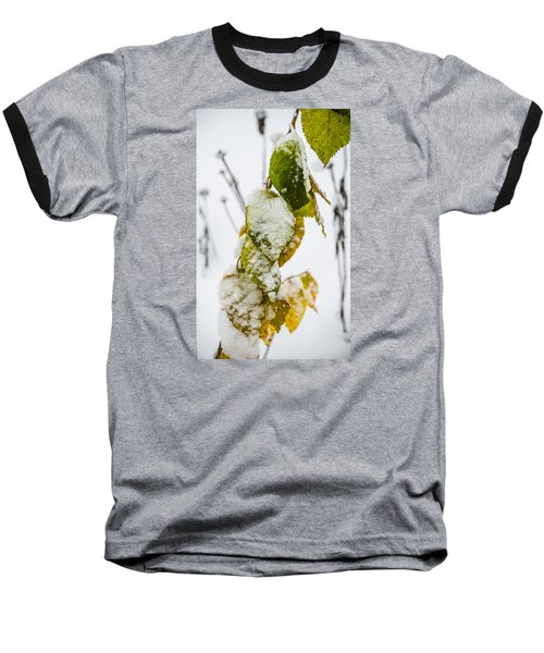 Baseball T-Shirt featuring the photograph Frosted Green And Yellow by Deborah Smolinske