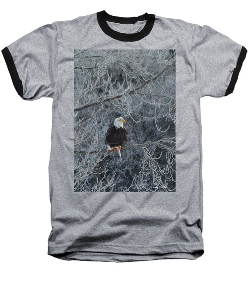 Frosty Morning Eagle Baseball T-Shirt