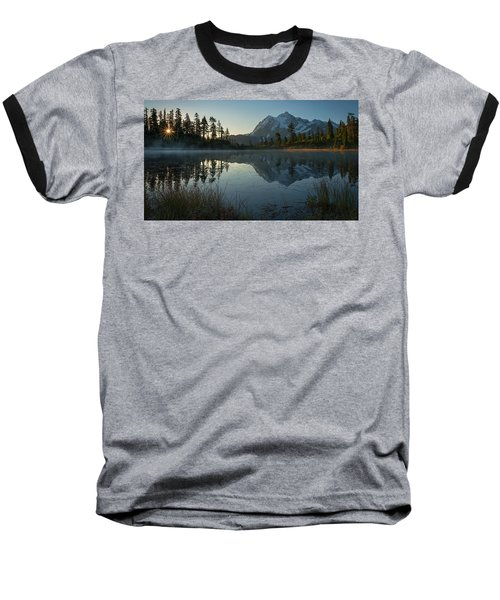 Baseball T-Shirt featuring the photograph Frosty Picture Lake by Dan Mihai