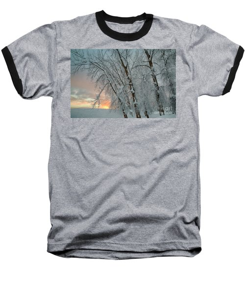 Frosty Sunrise Baseball T-Shirt