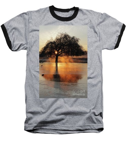 Frosty Sunrise In Bushy Park London 2 Baseball T-Shirt