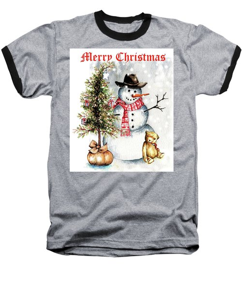 Frosty The Snowman Greeting Card Baseball T-Shirt