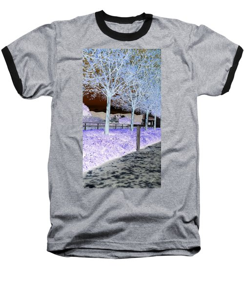 Frosty Trees At The Getty Baseball T-Shirt