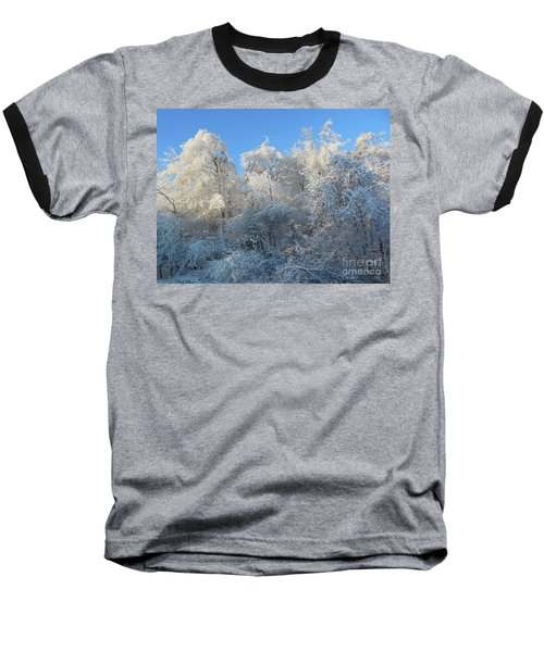Frosty Trees Baseball T-Shirt