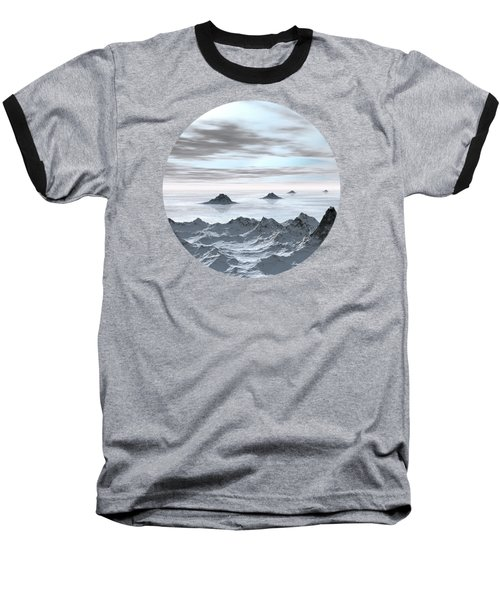 Frozen Arctic Sea Baseball T-Shirt