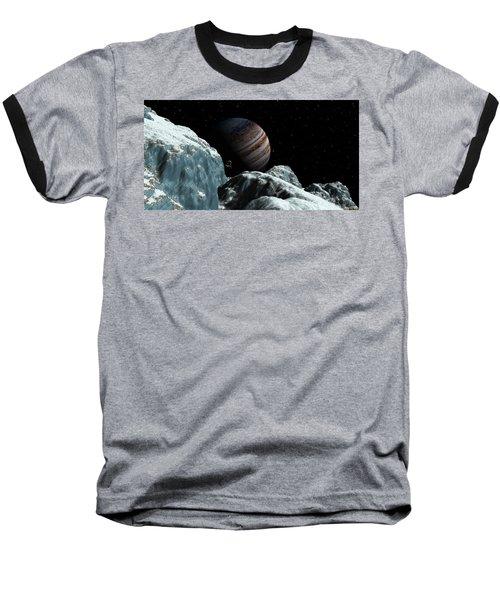 Baseball T-Shirt featuring the digital art Frozen Blue Gem by David Robinson