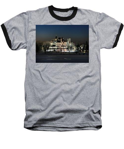 Frozen Boldt Castle Baseball T-Shirt