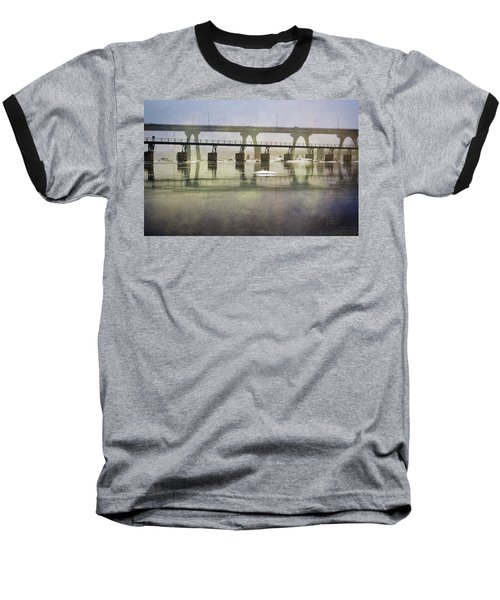 Baseball T-Shirt featuring the photograph Frozen Bridge by Jean Haynes