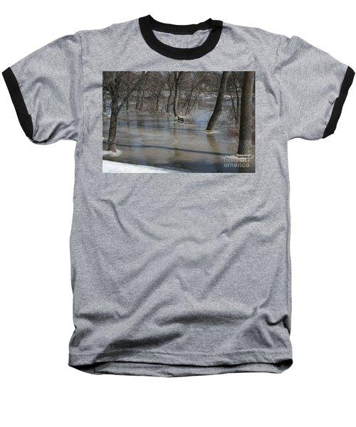 Frozen Floodwaters Baseball T-Shirt