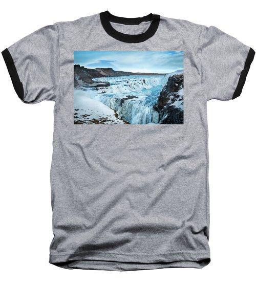 Frozen Gullfoss Baseball T-Shirt