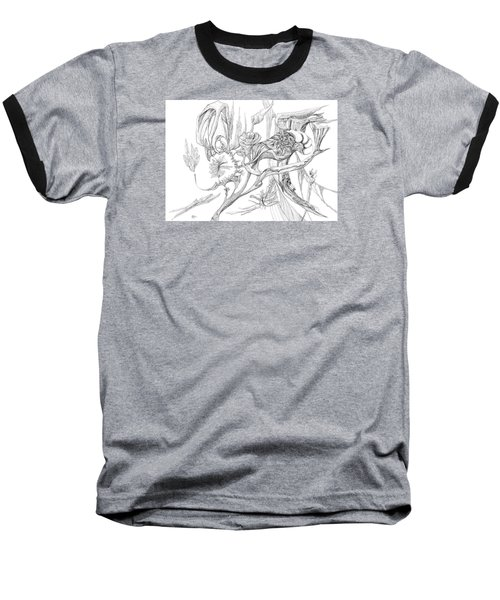 Frozen In Time Baseball T-Shirt by Charles Cater