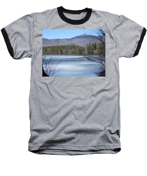 Frozen Lake Chocorua Baseball T-Shirt by Catherine Gagne