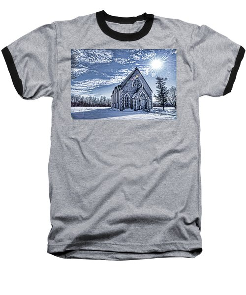 Frozen Land Baseball T-Shirt by Alana Ranney