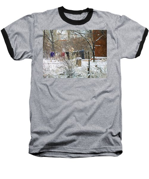 Frozen Laundry Baseball T-Shirt