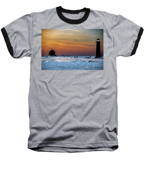 Frozen Lighthouse Baseball T-Shirt