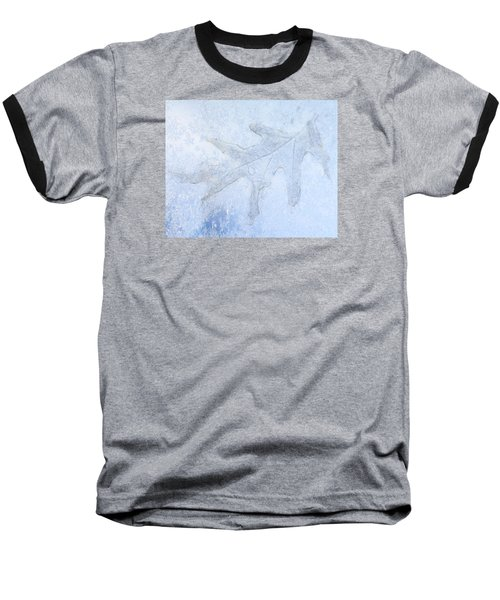 Frozen Oak Leaf Imprint Baseball T-Shirt