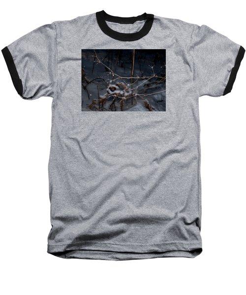 Frozen Rain Baseball T-Shirt by Annette Berglund