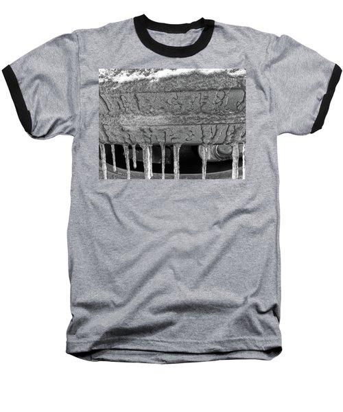 Baseball T-Shirt featuring the photograph Frozen Road Warrior by Robert Knight