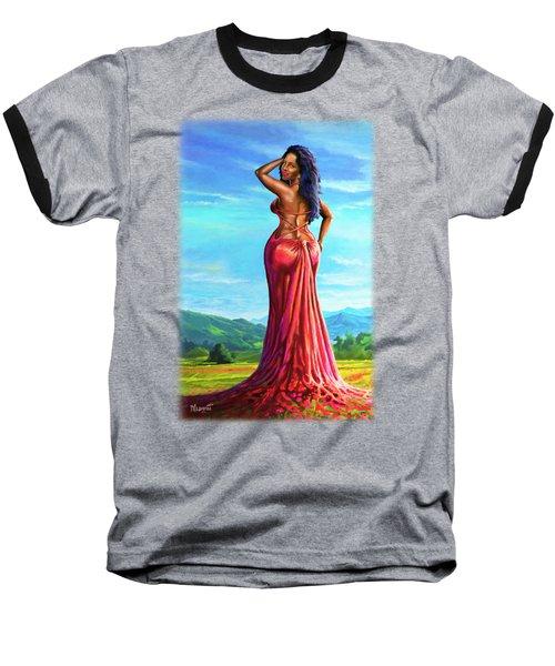 Summer Blossom Baseball T-Shirt by Anthony Mwangi