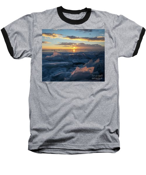 Frozen Sevan Lake And Icicles At Sunset, Armenia Baseball T-Shirt