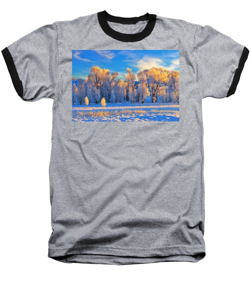 Frozen Sunrise Baseball T-Shirt