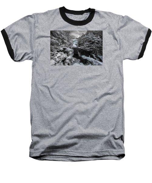 Frozen Water In Ammo Ravine Baseball T-Shirt
