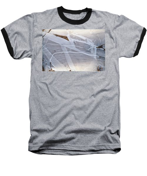 Frozen Water On Ground Baseball T-Shirt by Amelia Racca