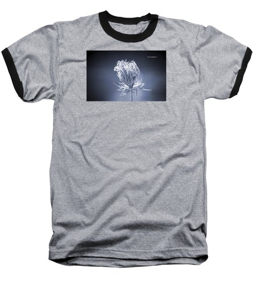 Baseball T-Shirt featuring the photograph Frozen Wildflower by Stwayne Keubrick