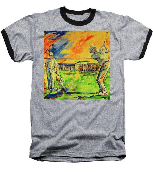 Fruehen Morgen Spiel   Early Morming Game Baseball T-Shirt by Koro Arandia