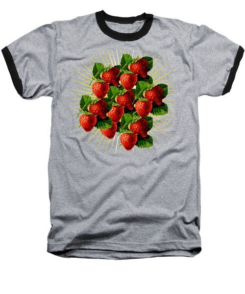 Baseball T-Shirt featuring the digital art Fruit 0101 by Ericamaxine Price
