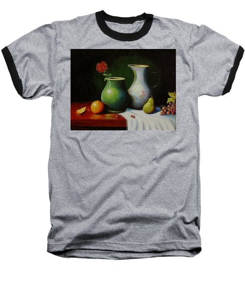 Fruit And Pots. Baseball T-Shirt by Gene Gregory