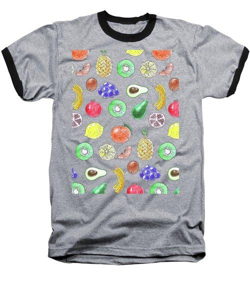 Fruit Pattern  Baseball T-Shirt