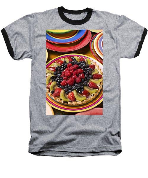 Fruit Tart Pie Baseball T-Shirt by Garry Gay
