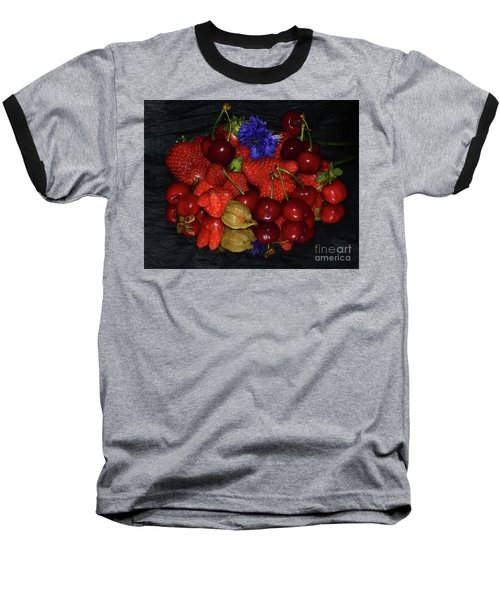 Baseball T-Shirt featuring the photograph Fruits With Flower by Elvira Ladocki