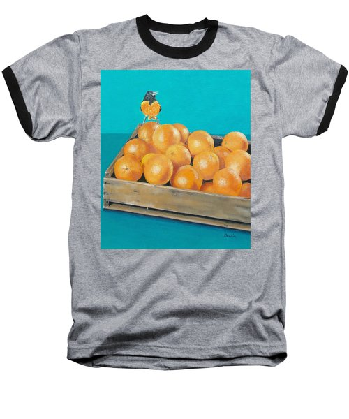 Frustrated Oriole Baseball T-Shirt by Susan DeLain