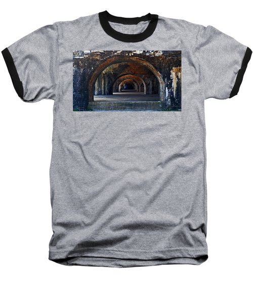 Ft. Pickens Arches Baseball T-Shirt