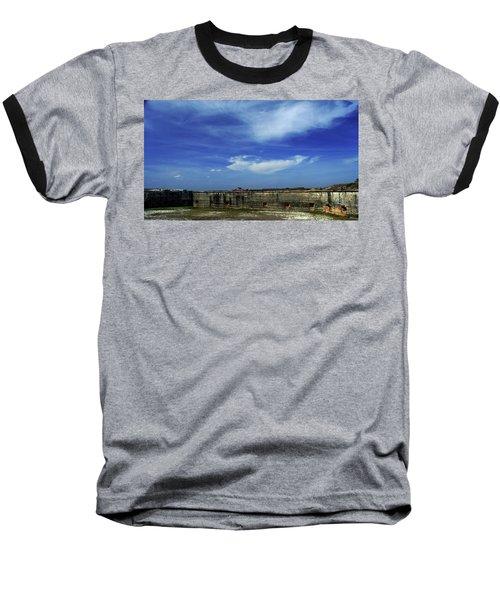 Ft. Pickens Sky 2 Baseball T-Shirt