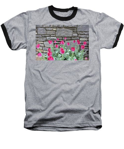 Fuchsia Color Tulips Baseball T-Shirt