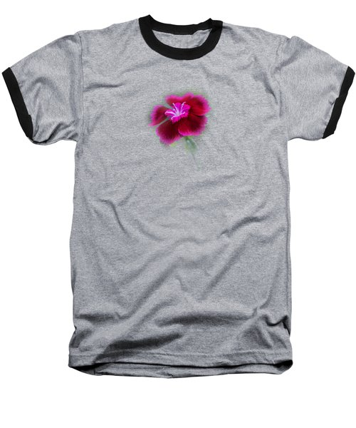 Fuchsia Pink Dianthus Tee-shirt Baseball T-Shirt by Donna Brown