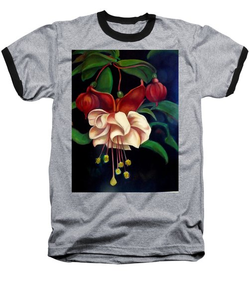 Baseball T-Shirt featuring the painting Fuchsias by Irena Mohr