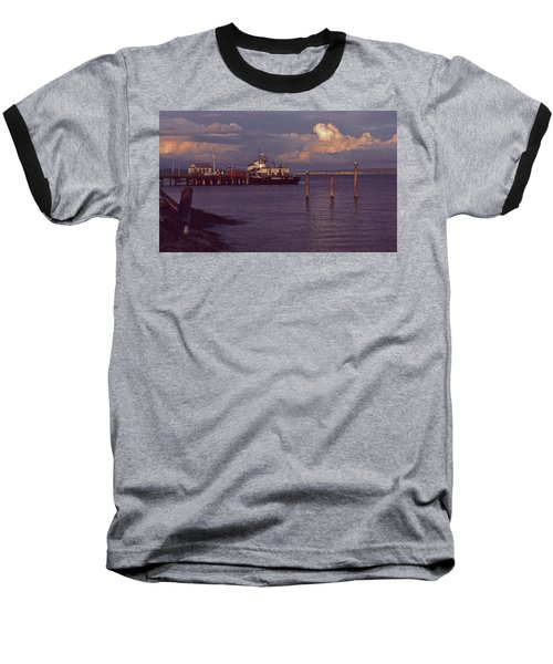 Baseball T-Shirt featuring the photograph Fuel Dock, Port Townsend by Laurie Stewart