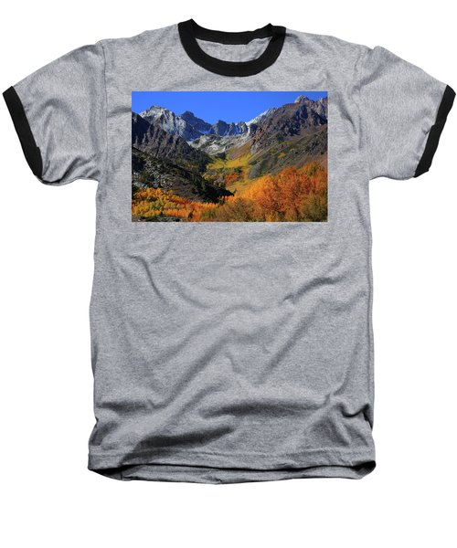 Full Autumn Display At Mcgee Creek Canyon In The Eastern Sierras Baseball T-Shirt