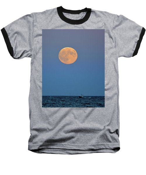Full Blood Moon Baseball T-Shirt by Nancy Landry