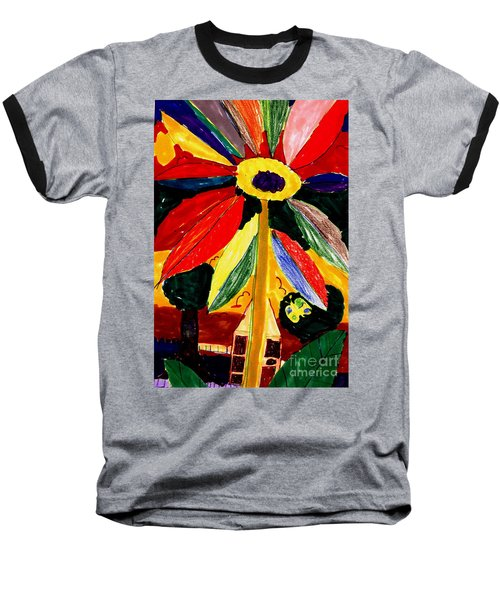 Baseball T-Shirt featuring the painting Full Bloom - My Home 2 by Angela L Walker
