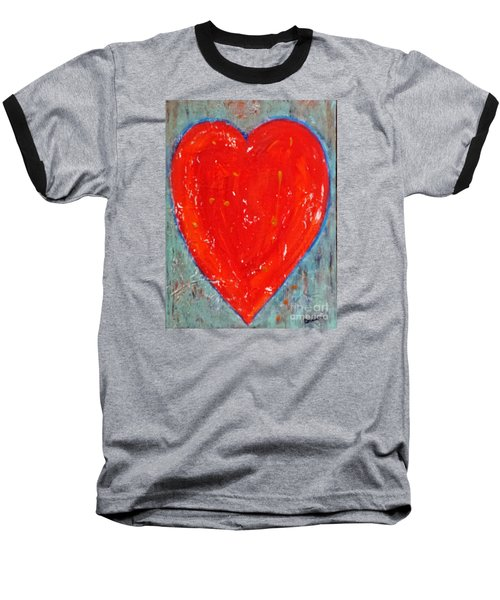 Baseball T-Shirt featuring the painting Full Heart by Diana Bursztein