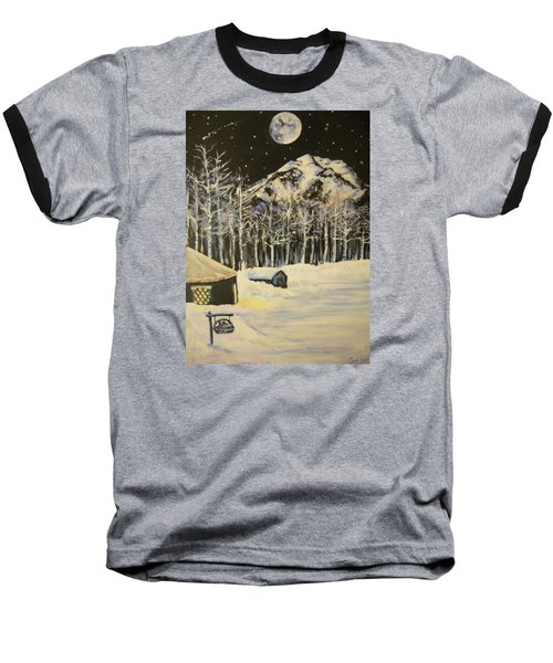 Full Moon At The Sundance Nordic Center Baseball T-Shirt