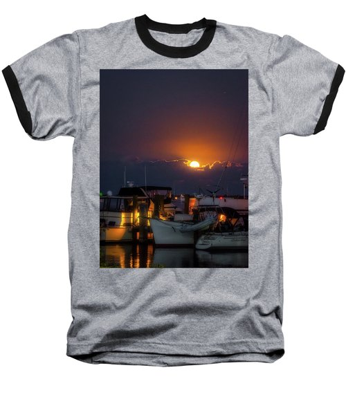 Full Moon At Titusville Baseball T-Shirt